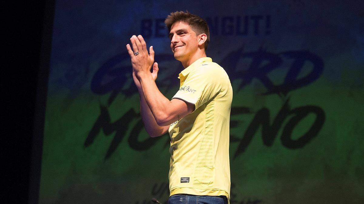 Gerard Moreno, en un acto con el Villarreal.