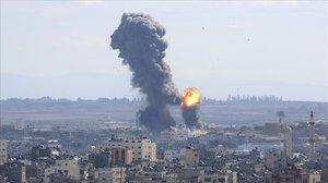 El humo causado por una de las explosiones en Gaza.
