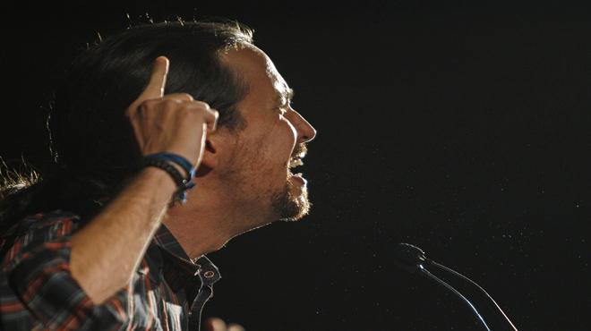 Pablo Iglesias en el mitin Sí que es pot,en Rubí.