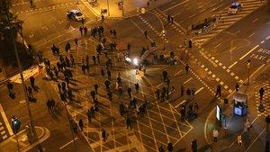 Imagen del últimocorte de tráfico de la Meridiana, el 13 de marzo, antes del estado de alarma.