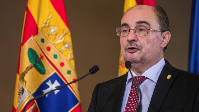 Javier Lambán toma posesión como presidente de Aragón.