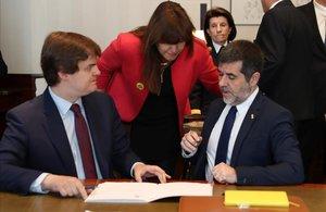 Jordi Sánchez tramita su acta parlamentaria.