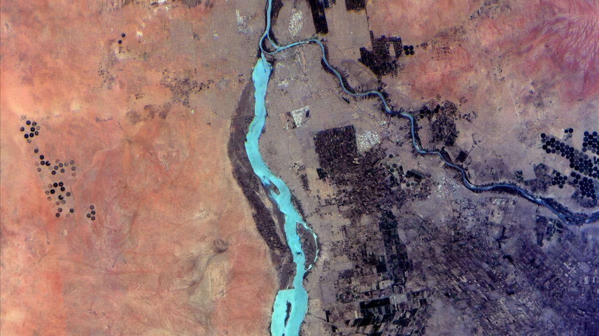 Khartoum (Sudan), imagen hiperespectral.