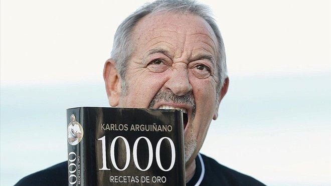 Karlos Arguiñano, con su nuevo libro.