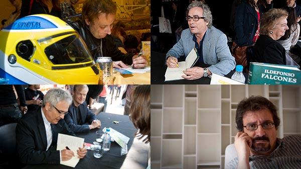 Los escritores han salido a la calle para presentar sus trabajos por Sant Jordi y firmar ejemplares.