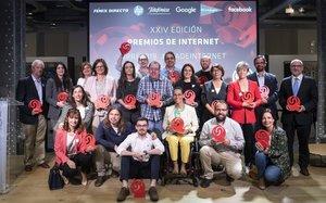 Los galardonados de los Premios de Internet 2019.
