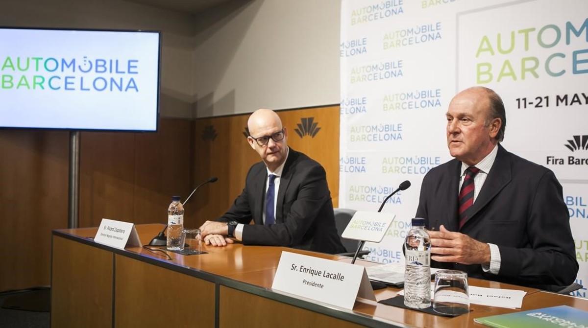 Enrique Lacalle presenta las novedades del salón Automobile.