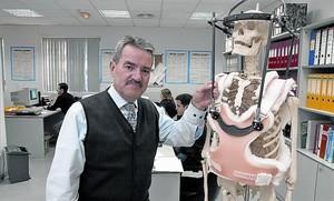 Luis Márquez, gerente de la empresa de prótesis Traiber, en el 2005.