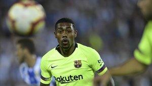 Malcom, en el Leganés-Barça que se jugó en Butarque.