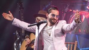 Maluma, durante una actuación en Miami, el pasado 14 de marzo.