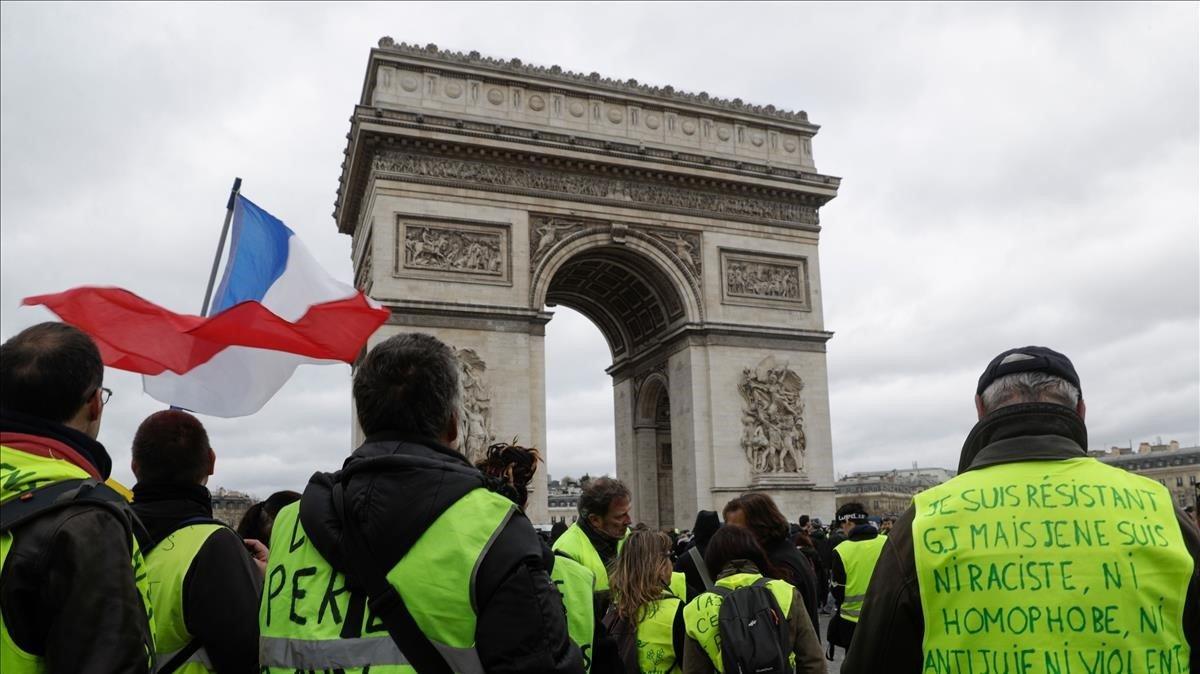 Manifestación de 'chalecos amarillos' en marzo del 2019 en París.