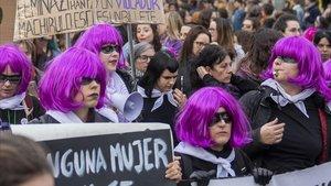 Manifestación femenista del 8M en Barcelona