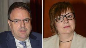 El alcalde de Manresa, Valentí Junyent (PDECat), y la concejala Mireia Estefanell (ERC).