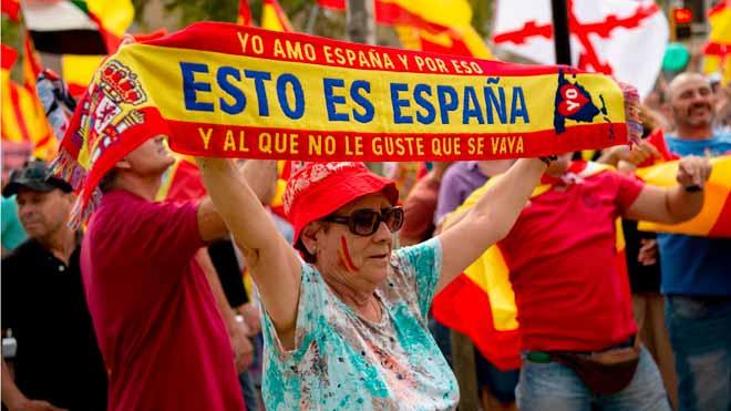 Marcha por la unidad de España en Barcelona.