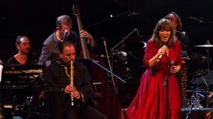 Maria del Mar Bonet y el flautista sirioMouslim Moslem, en el recital del Mas i Mas Festival.