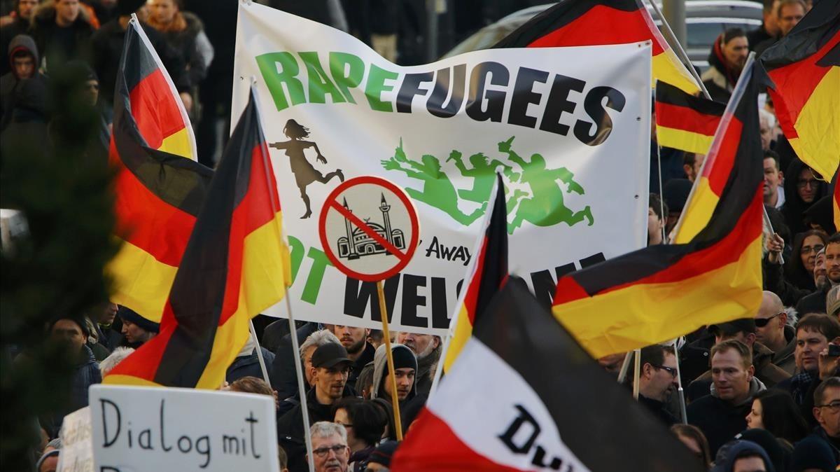 Concentración de la extrema derecha aleman el año pasado en Colonia.