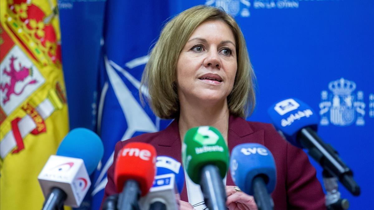 La exsecretaria general del PP María Dolores de Cospedal.