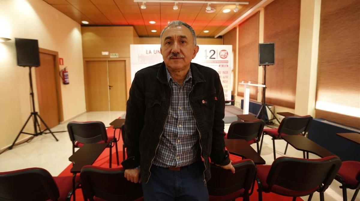 El nuevo secretario general de la UGT, Josep Maria Álvarez, tras su elección.