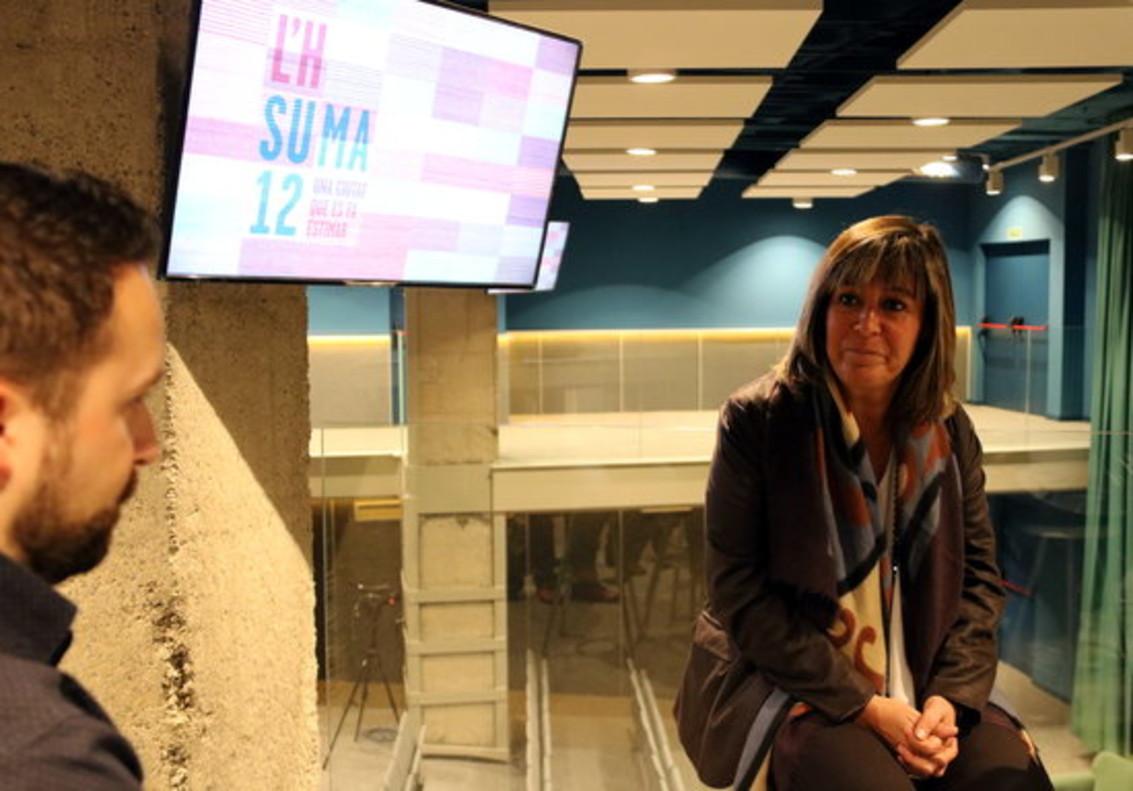 Roda de premsa de Núria Marín, alcaldessa de lHospitalet.