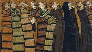 Obra 'Ploraners', de 1295, expuesta en el MNAC