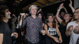 Peter Zaremba, en el concierto de The Fleshtones en el Marula Cafe de Barcelona