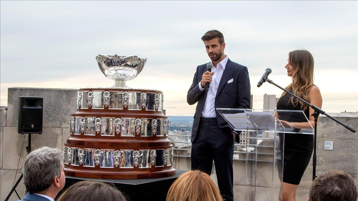 Piqué, en la presentación de la Copa Davis en Nueva York.