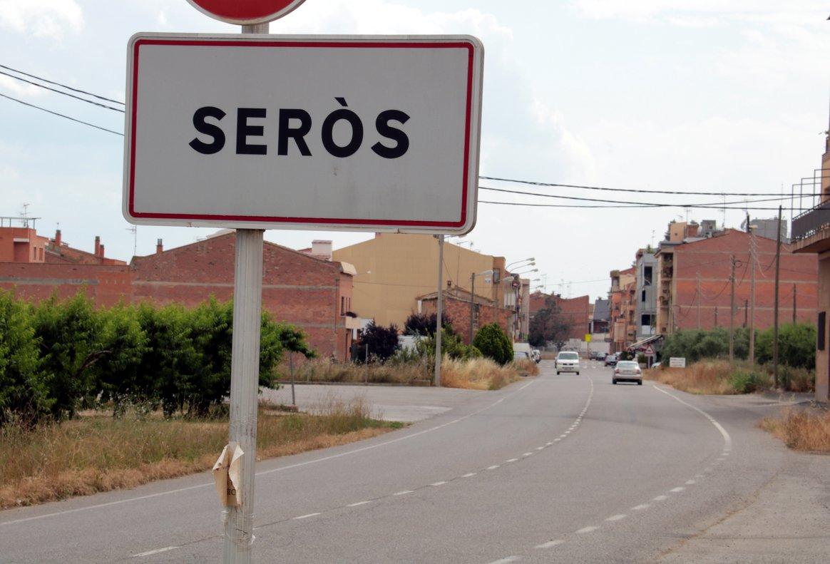 Plano de la entrada a Seròs, la localidad leridana donde han sido aislados 50 temporeros de la fruta.