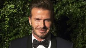 David Beckham en los premios delEvening Standard Theatre en el 2014.