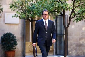 El president Artur Mas, este martes en Barcelona.