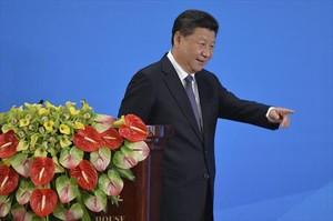 El presidente chino, Xi Jinping, durante una conferencia sobre Asia en Pekín.