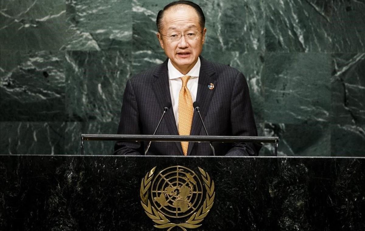 El presidente del Banco Mundial, Jim Yong Kim, durante una intervenciónen la ONU.