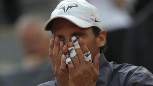 Rafael Nadal, en Roland Garros, en las vísperas de medirse nuevamente a Roger Federer.