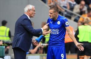Ranieri y Vardy, en una foto de principios de temporada en el Leicester