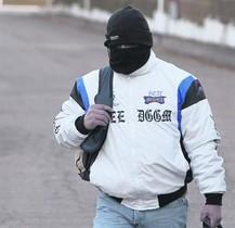 Ricart, a la salida de la cárcel de Herrera de la Mancha, el 29 de noviembre.