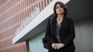 Dolores Delgado, fiscal experta en terrorismo yihadista, en la Ciutat de la Justícia.