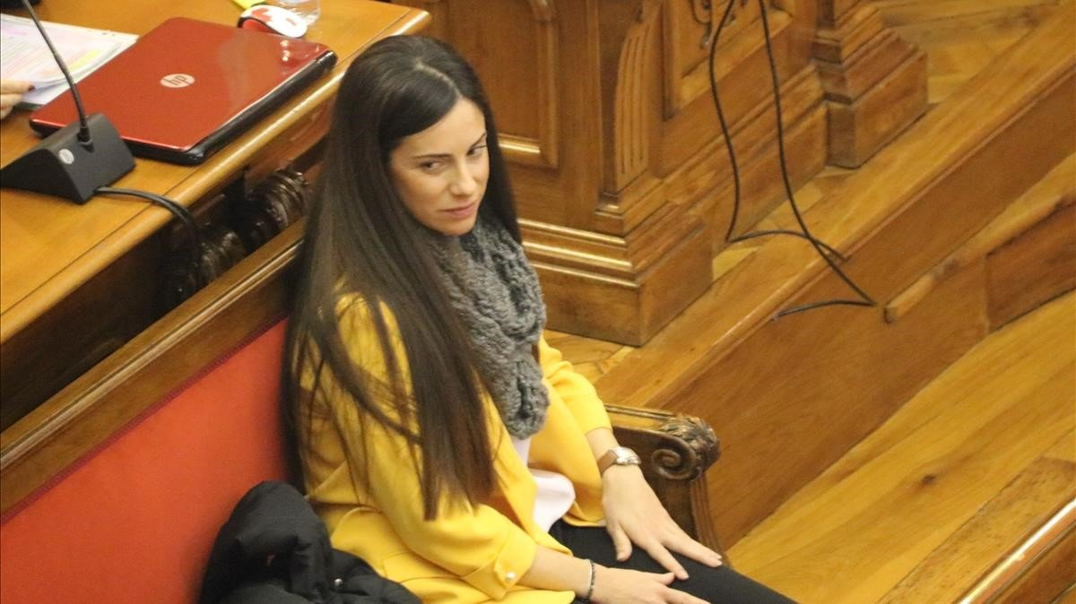 Rosa Peral,acusada por el crimen de la Urbana, en el banquillo, este jueves.