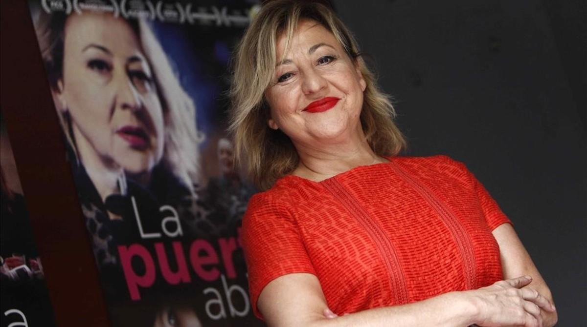 Carmen Machi, en la presentación de 'La puerta abierta' en Barcelona.