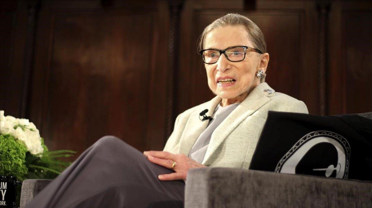 Ruth Bader Ginsburg, durante un acte en Nueva York, el pasado diciembre.