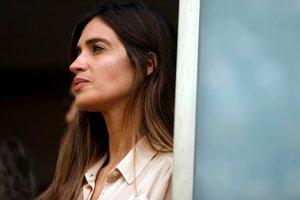 Sara Carbonero, en el hospital de Oporto donde estuvo ingresado Iker Casillas, a principio de mayo.