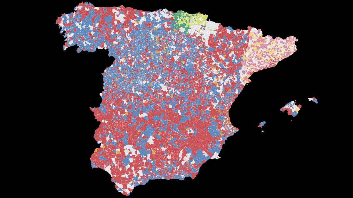 Què va votar cada localitat d'Espanya a les eleccions municipals del 2019