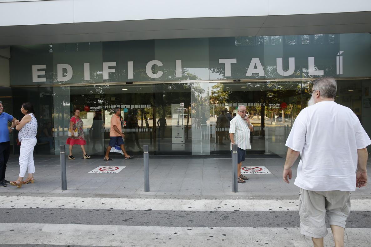 Entrada del Parc Taulí en Sabadell.