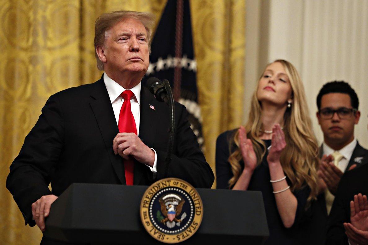 Trump considera que los estudiantes estadounidenses de ideología conservadora están, dijo, bajo asedio.