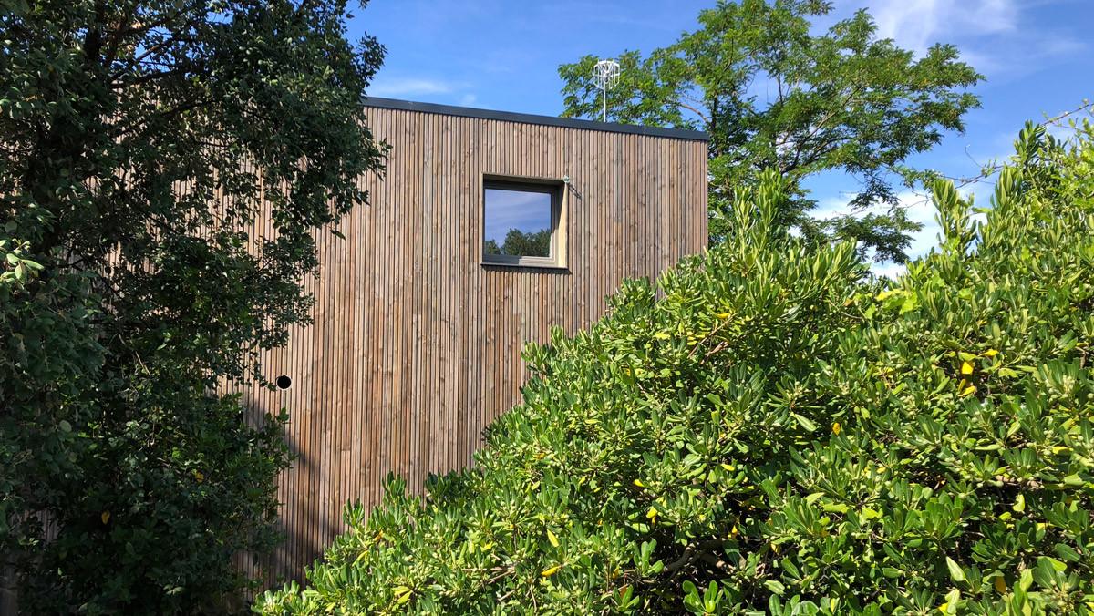 Una de las casas de madera certificada de House Habitat.