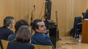 Alberto G. S., el creador de Seriesyonkis, durante el juicio.