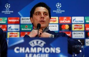Vincenzo Montella, durante la rueda de prensa de este lunes en Old Trafford.
