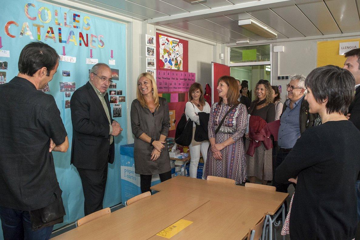 Visita del conseller Bargalló a la Escola del Bosc de Rubí