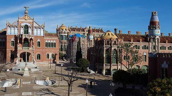 Visita al Recinte Modernista de Sant Pau, que ha estat restaurat i pròximament sobrirà al públic.