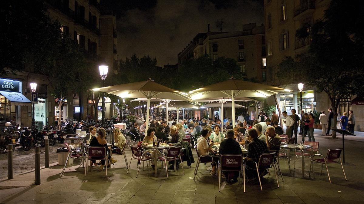 Vista de la plaça del Born.