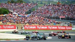 Imagen de una carrera en el circuito de Montmeló.