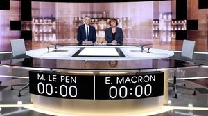 Plató donde se celebrará el debate entre Le Pen y Macron.